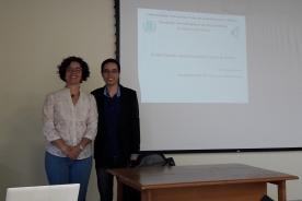 Prof. Vitória A. Fonseca e Denis Pereira